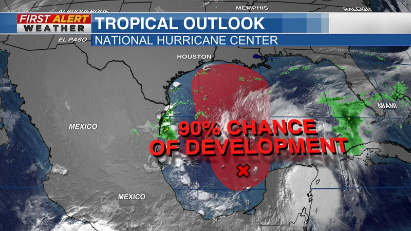 Tropical Outlook from the National Hurricane Center as of 10 AM CDT Thursday