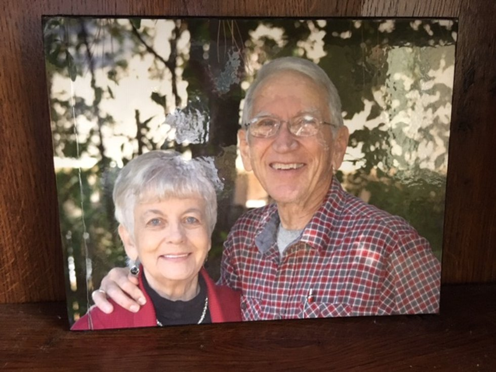 A photo of John and Ann Kline. Married for 40 years, the couple was unable to see each other...