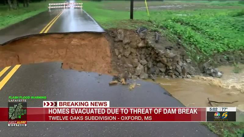 Homes Evacuated due to threat of dam break