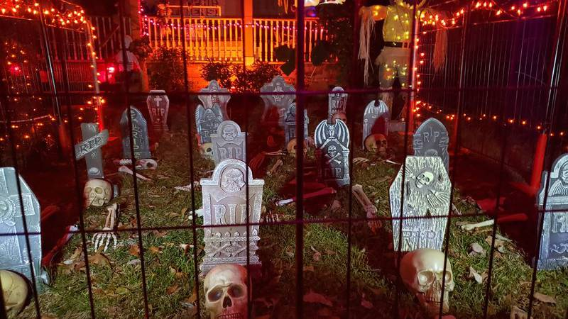Michael Bridges submitted this photo of a Halloween decorations on York Avenue.
