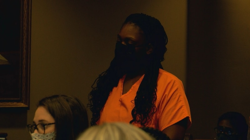 Brandon Gray's Mother Terra Wells appears in court. Wells faces felony charges for his death.