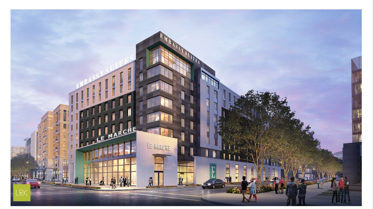 Hilton Hotel renderings for Downtown Memphis