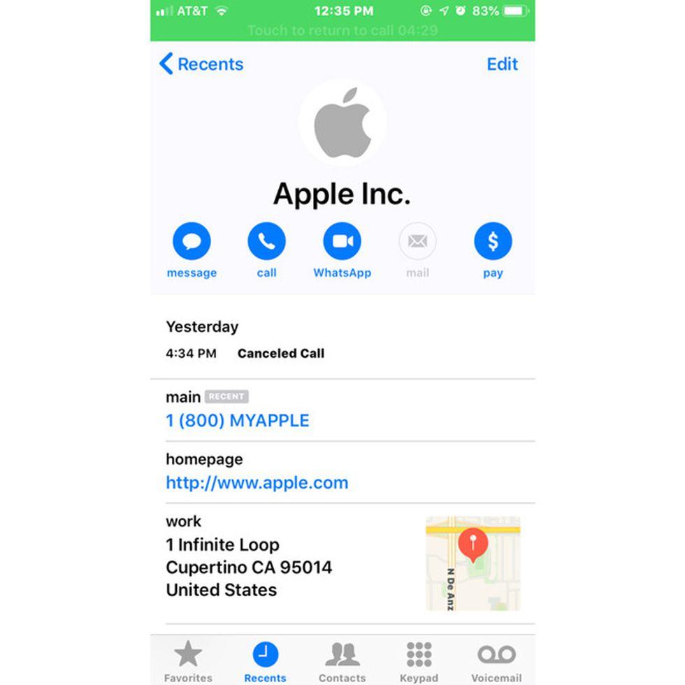 Screenshot of phishing scam in progress (Source: AppleInsider)