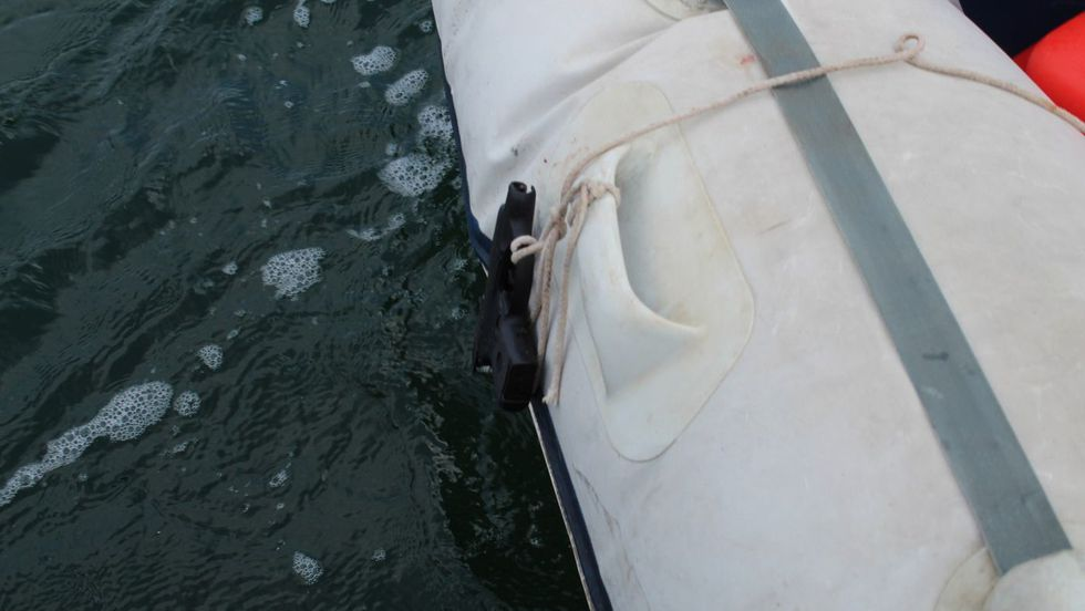 Police believe Jacob Scott tied this gun to the dinghy he allegedly staged his suicide in.