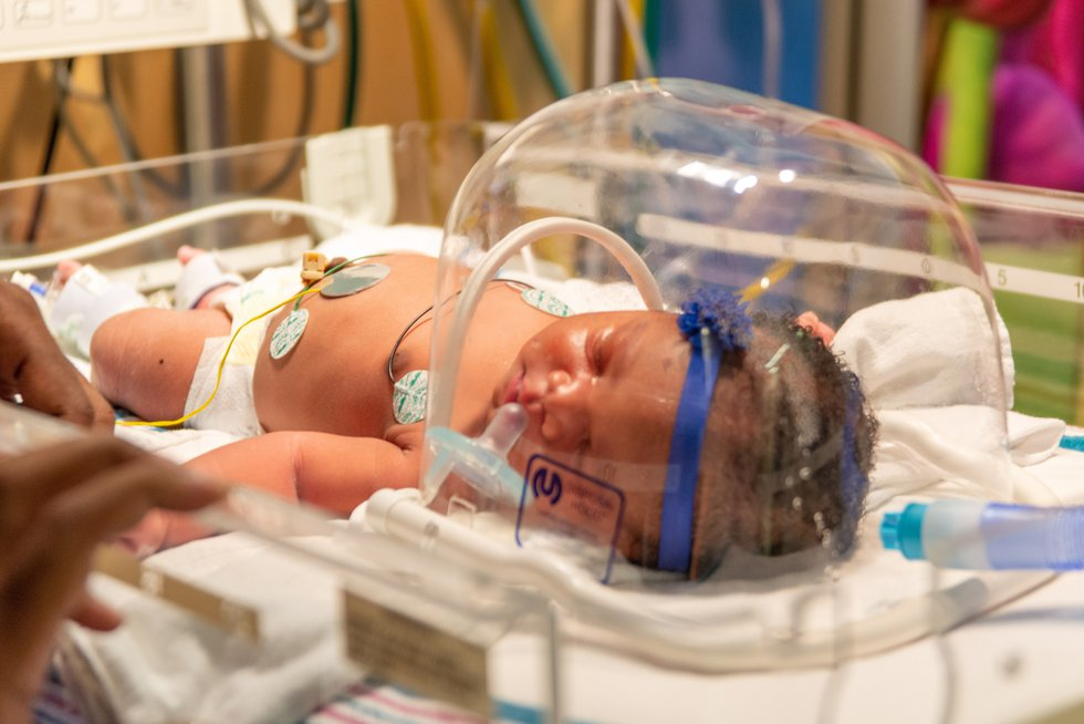 Baby Christina was born on 9/11/19 at 9:11 and weighed in at 9 pounds 11 ounces. (Source: Brown...