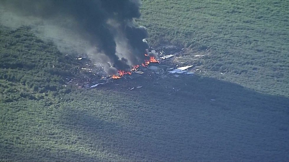 Sixteen people were killed when this plane crashed in LeFlore County, MS on Monday afternoon....