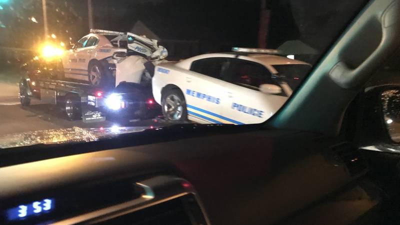 Crash involving Memphis police cruisers