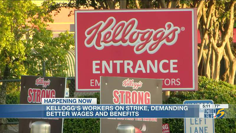 Union reps say new pay structure is main reason for nationwide Kellogg's strike