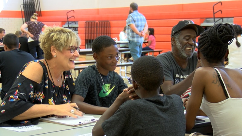 Travis Middle School is replacing the traditional parent-teacher conference by bringing in a...