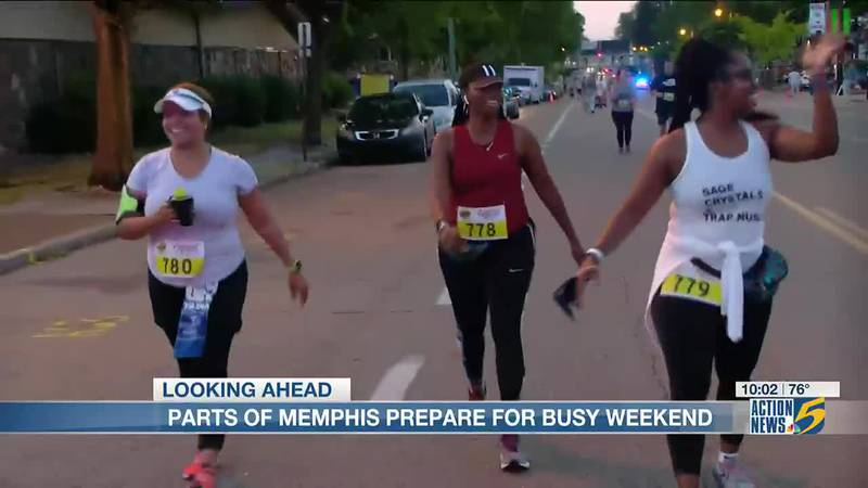 Parts of Memphis preparing for busy weekend with football game and festival