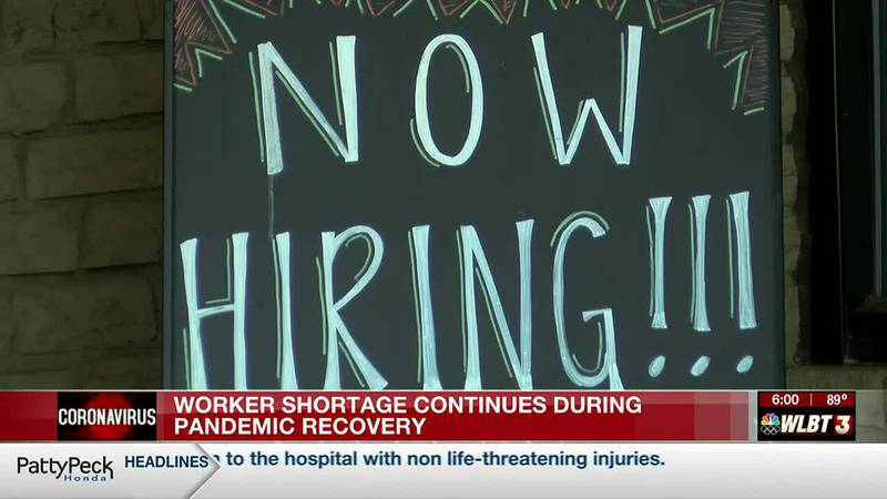 Worker shortages force businesses to struggle during pandemic recovery
