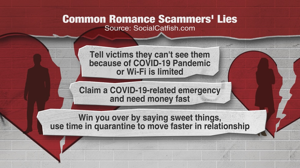 SocialCatfish.com tracks online dating scams.  Here are three common tricks you'll see from...