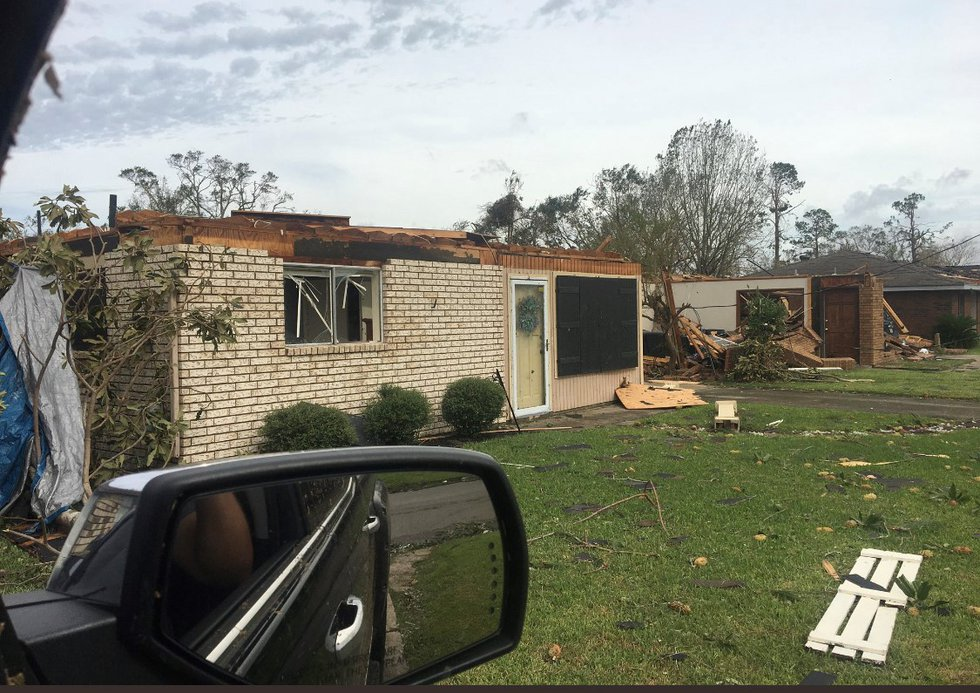 The home of KPLC-TV Meteorologist Ben Terry was destroyed during Hurricane Laura.