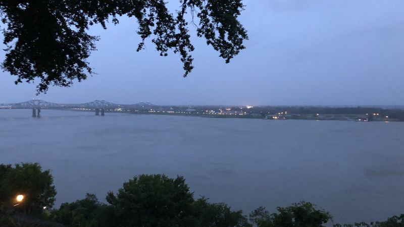 Numerous power outages in Natchez and wind damage