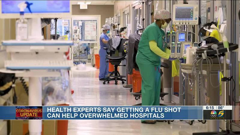 Doctors encourage getting the flu shot as it may help minimize future hospital burden