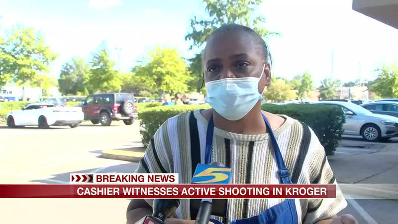 Kroger cashier says shooter followed her as she lead a group to safety