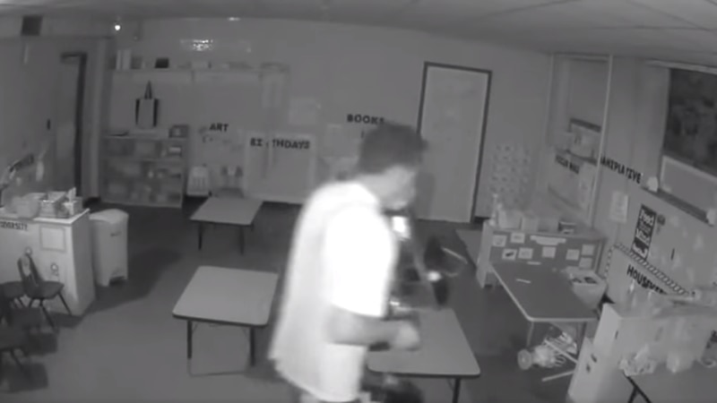 Suspect wanted for breaking into church, stealing electronics