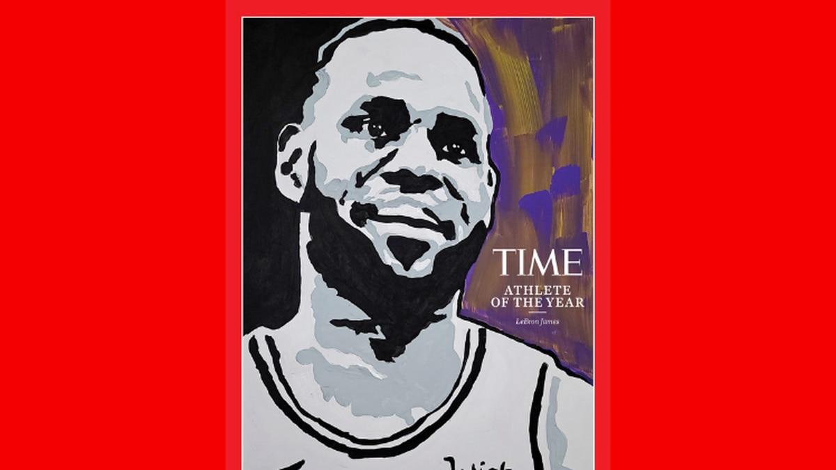 LeBron James, portrait by Tyler Gordon for Time