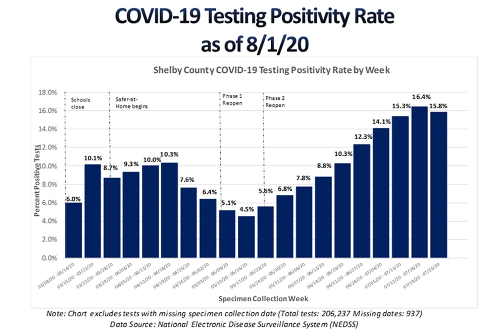 Shelby County COVID-19 numbers - August 2