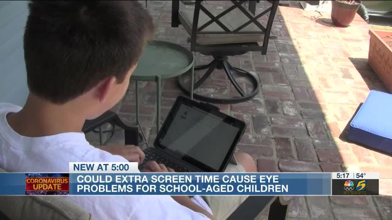 Could extra screen time cause eye problems for school aged children