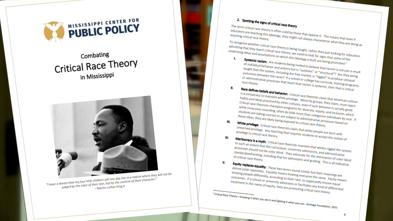 Mississippi Center for Public Policy's Critical Race Theory report