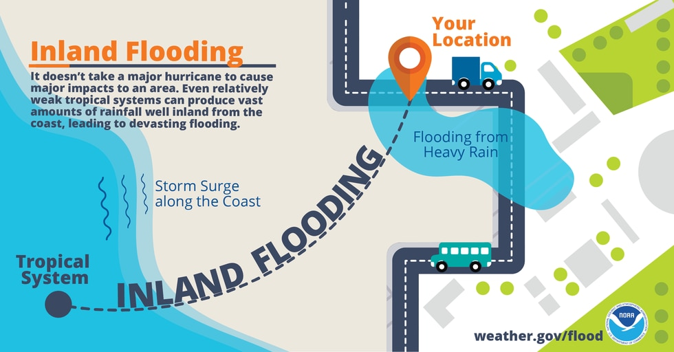 Flooding from heavy rains is the second leading cause of fatalities from landfalling tropical...