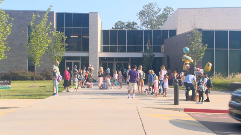 Forest Hill Elementary students return to school.