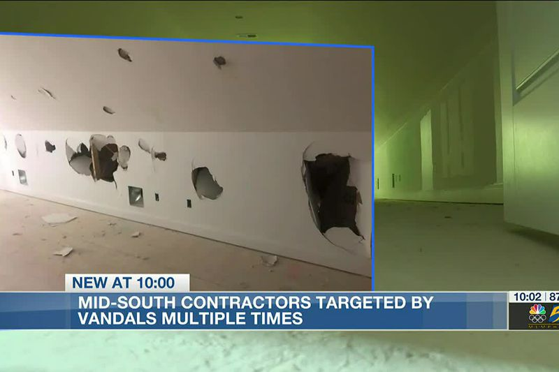 Mid-South contractors targeted by vandals multiple times