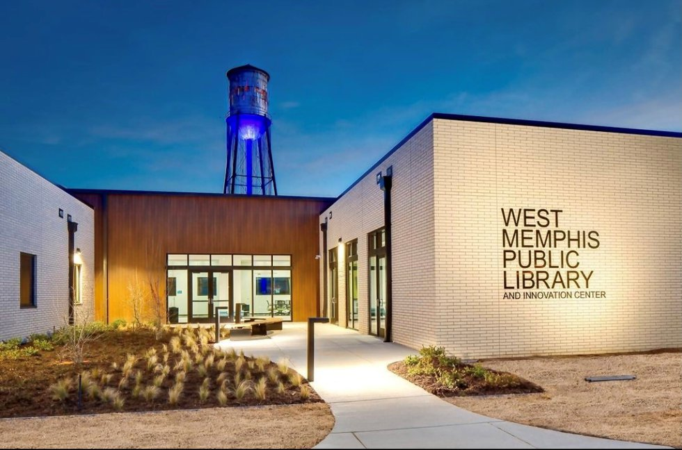 West Memphis' new public library located at 500 East Broadway Ave.