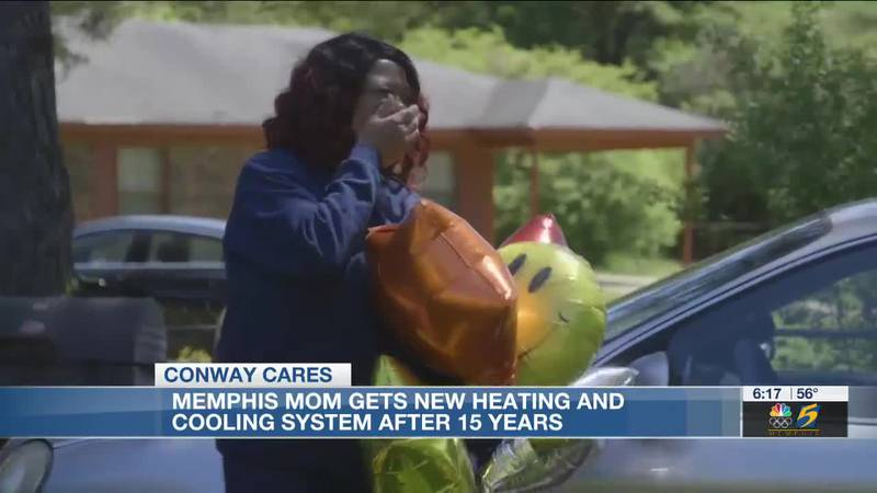 Memphis mom gets new heating and cooling system after 15 years