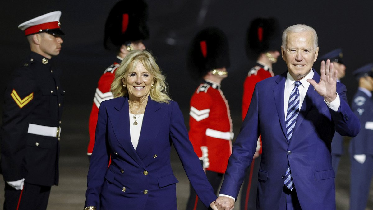 U.S. President Joe Biden and first lady Jill Biden (Phil Noble/Pool Photo via AP)