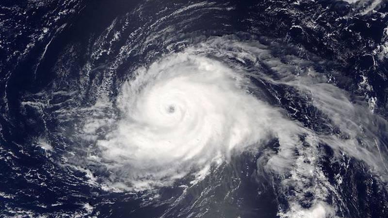 A satellite image of Hurricane Gaston. (Source: NASA via CNN)