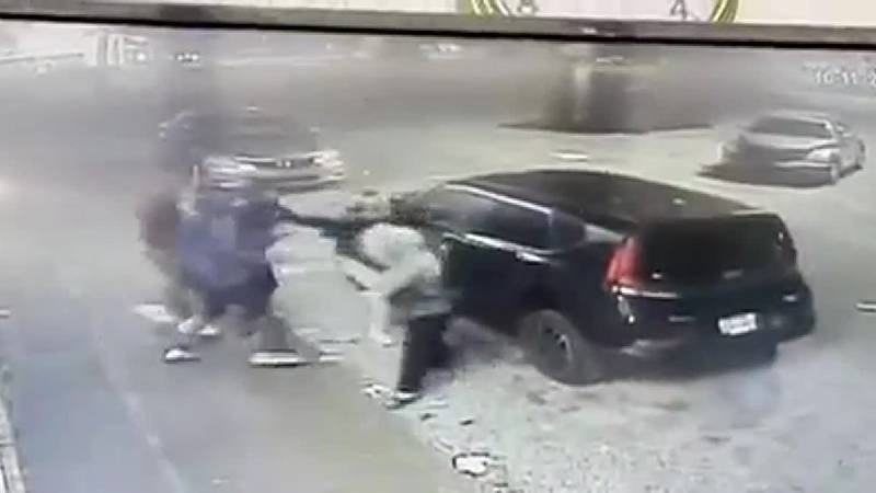 Caught on Camera: Woman attacked, robbed