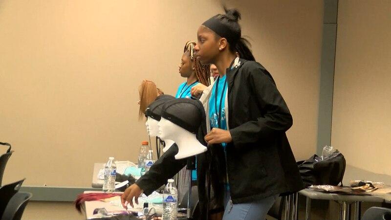 Adrienne Small Foundation summer camp teaches teens hair care.