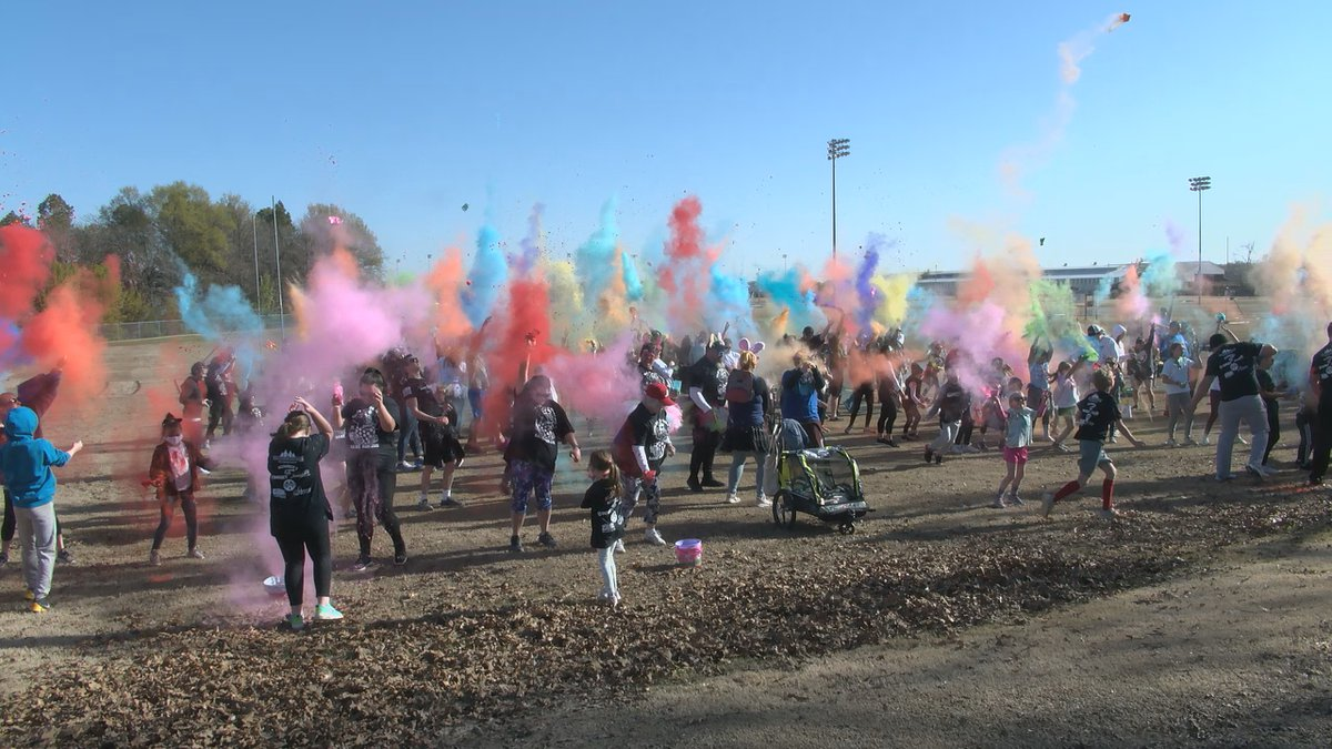 Over 200 people attended the Color Me Egg-Cited D.A.R.E Run at Joe Mack Campbell Park on...