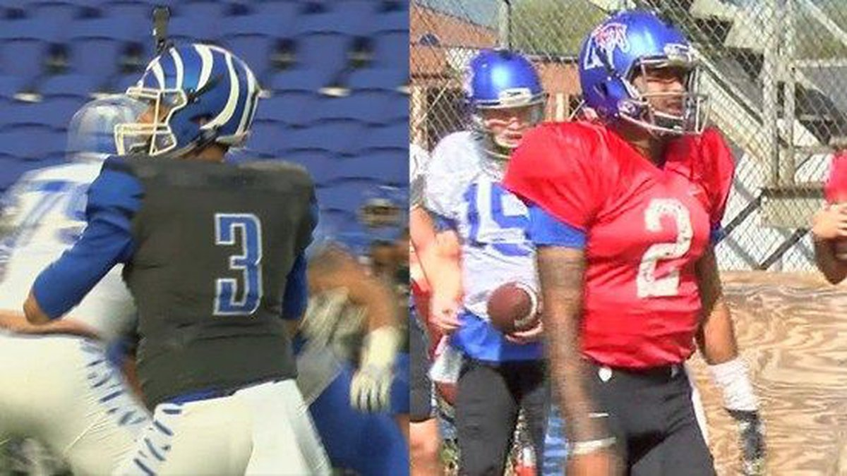 Brady White (L) and David Moore (R) will compete for the starting job. (Source: WMC Action News...