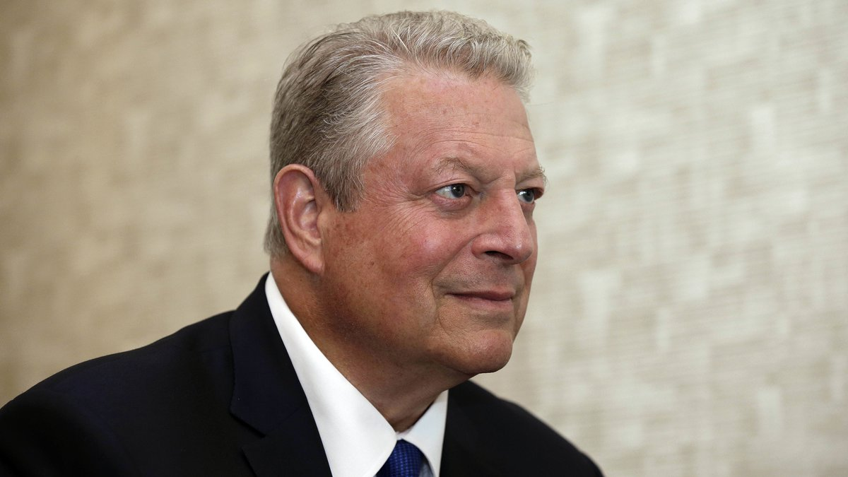 Former U.S. Vice President Al Gore listens to a question during an interview in Greensboro,...