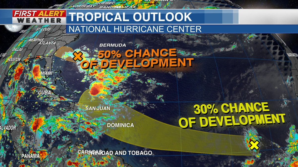 Tropical Outlook from the National Hurricane Center (4 PM CT Sunday)
