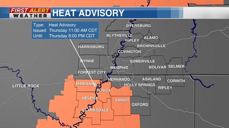 Heat Advisory as of 4:30 AM CT Thursday, August 26, 2021