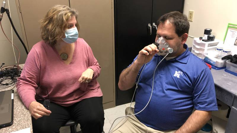 U of M Researchers conduct study on amount of spit particles that leave your mouth with singing...