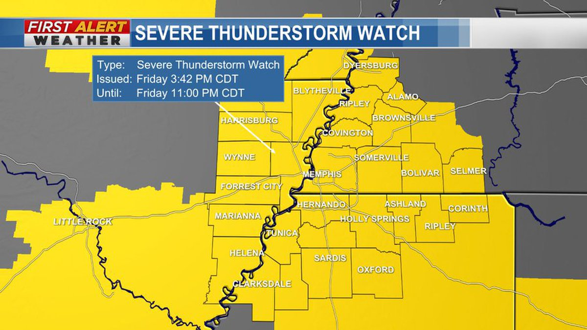 Severe Thunderstorm Watch for the Mid-South
