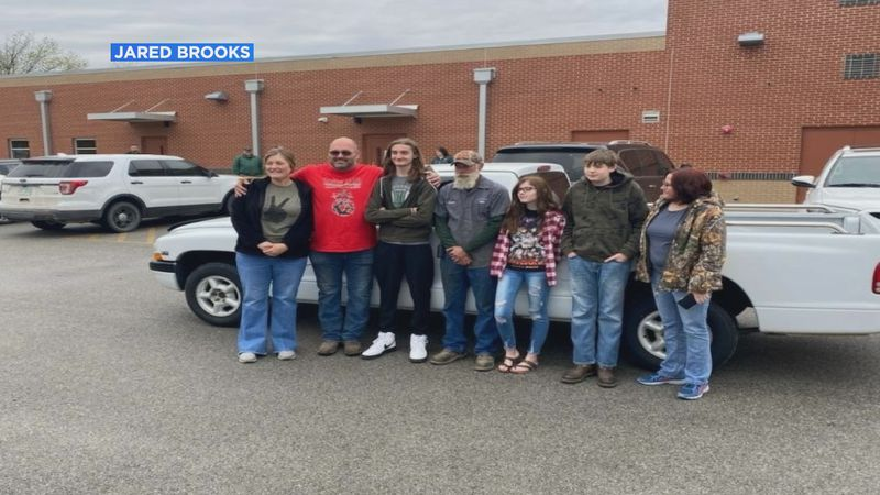 Rickey and Walnut Ridge senior Caylan Decker received new vehicles courtesy of Cook's Towing &...