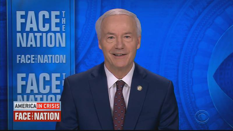 Arkansas Governor Asa Hutchinson appears on CBS News Face the Nation