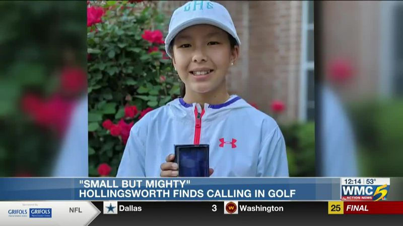 Claire Hollingsworth small but mighty attitude drives her golf game