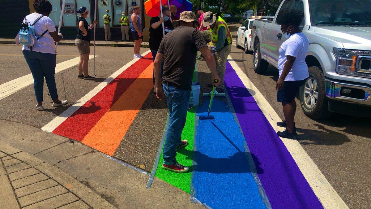 Midtown LGBTQ crosswalk upgrade