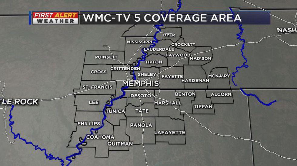 WMC-TV 5 Coverage Area