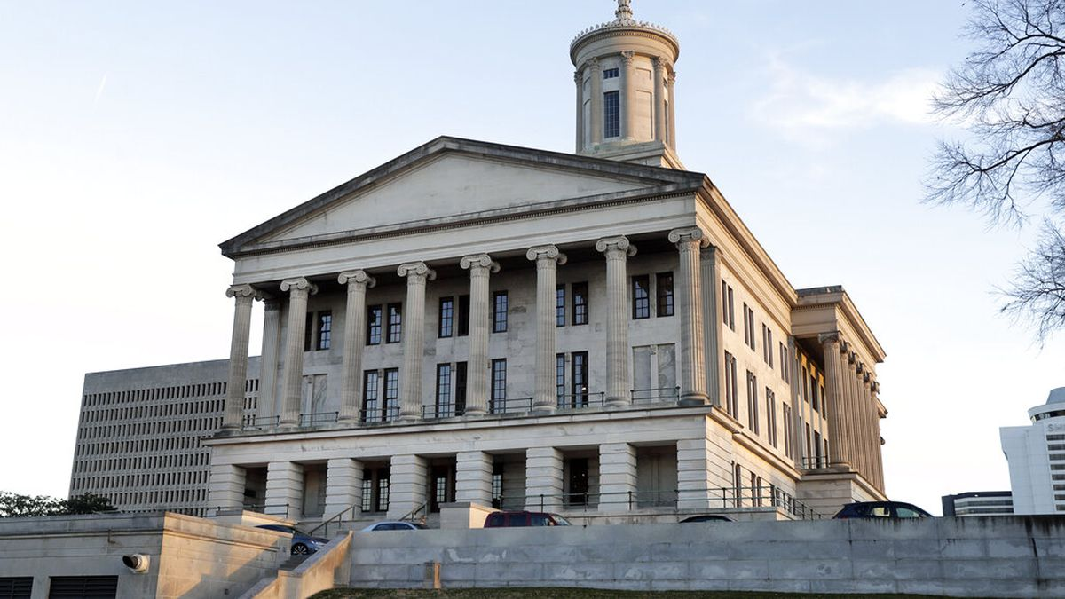 This Jan. 8, 2020, photo shows the Tennessee State Capitol in Nashville, Tenn. (AP Photo/Mark...