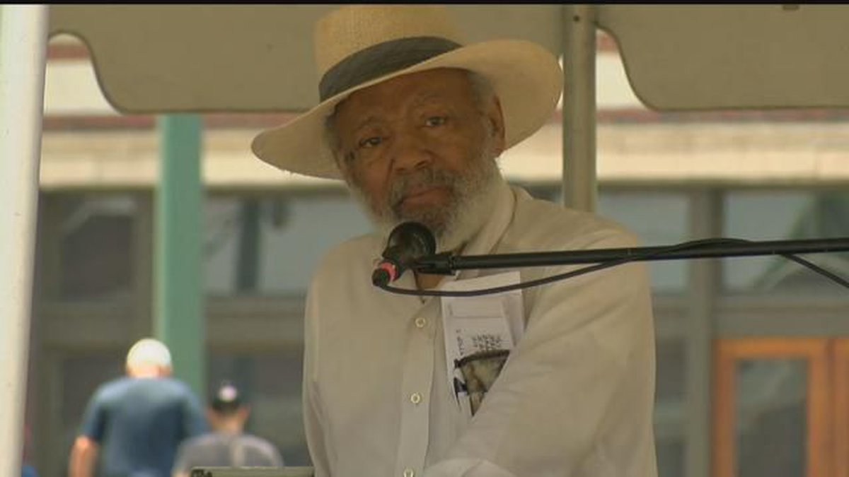 James Meredith speaks at Rally Against Fear