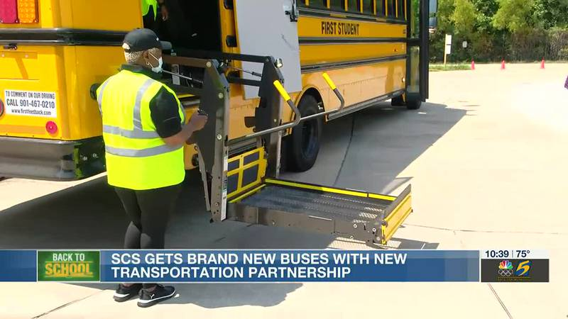 Shelby County Schools gets new buses with transportation partnership