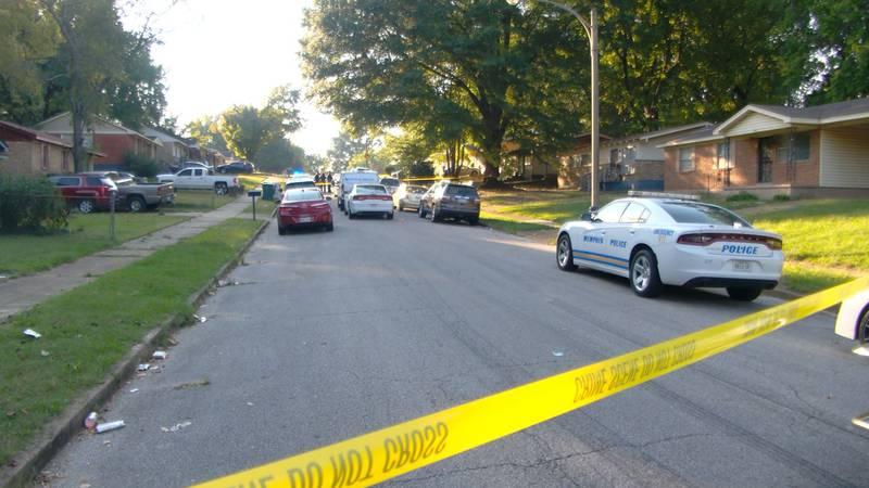 Scene of shooting on Pueblo Ave.